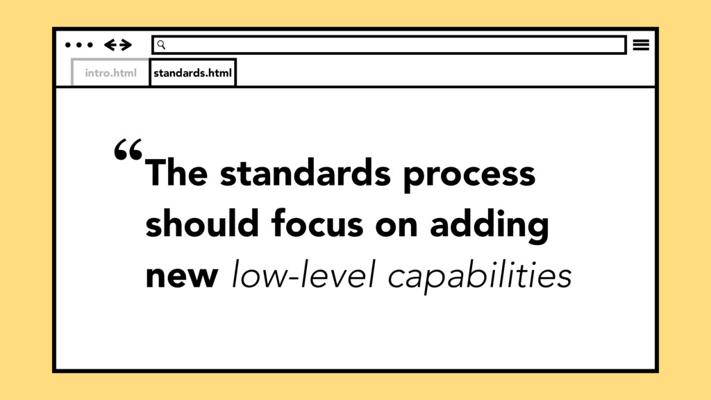 """intro.html standards.html """"The standards proces..."""