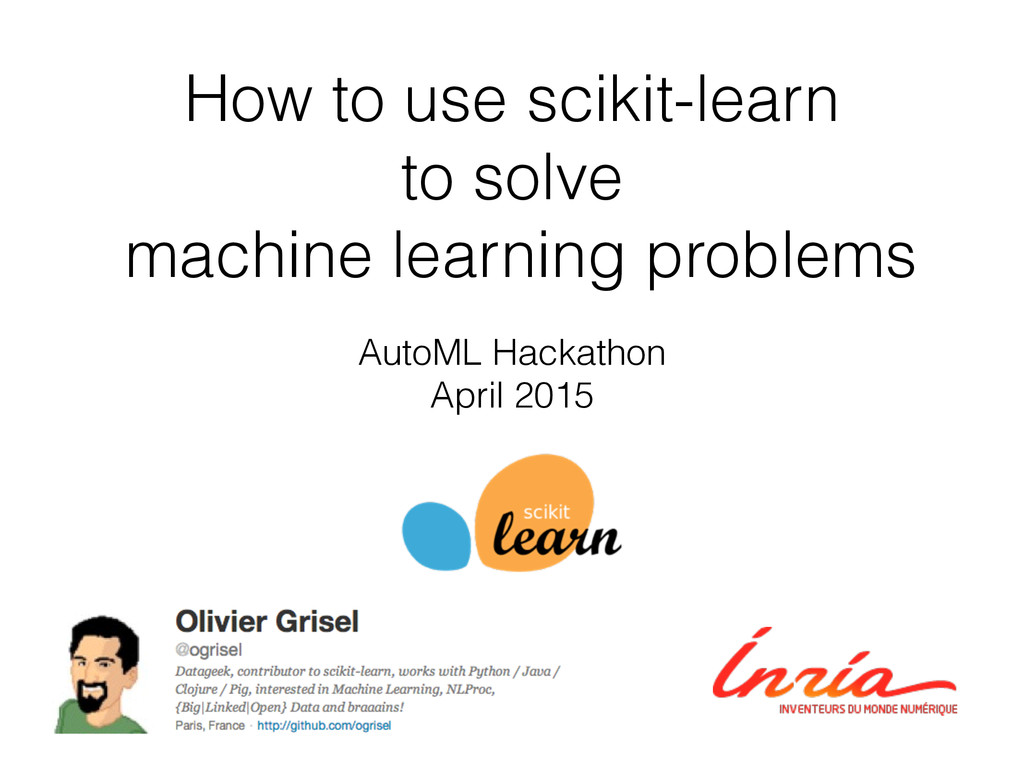 How to use scikit-learn to solve machine learni...