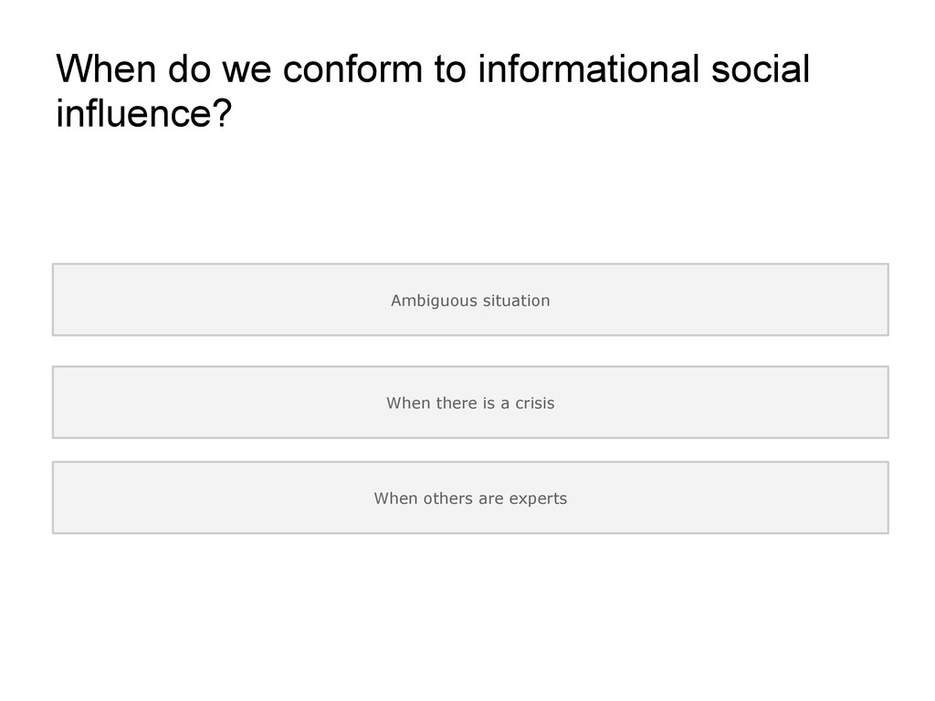 When do we conform to informational social infl...