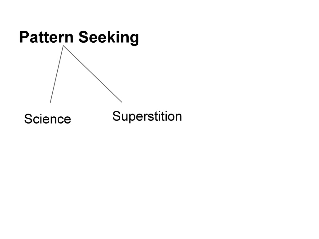 Pattern Seeking Science Superstition