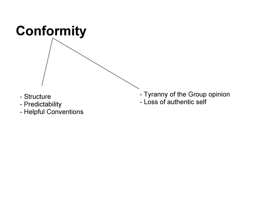 Conformity - Structure - Predictability - Helpf...