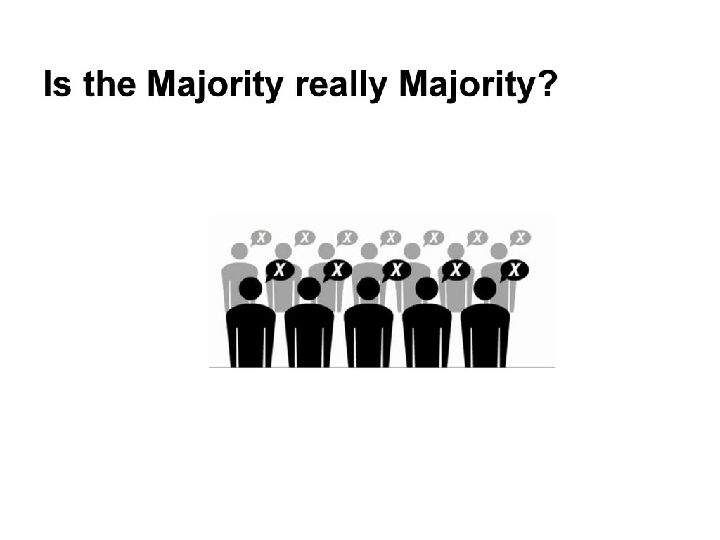 Is the Majority really Majority?