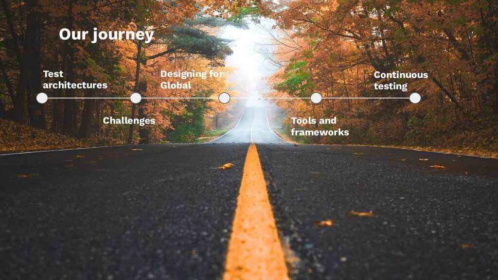 Our journey Test architectures Challenges Desig...