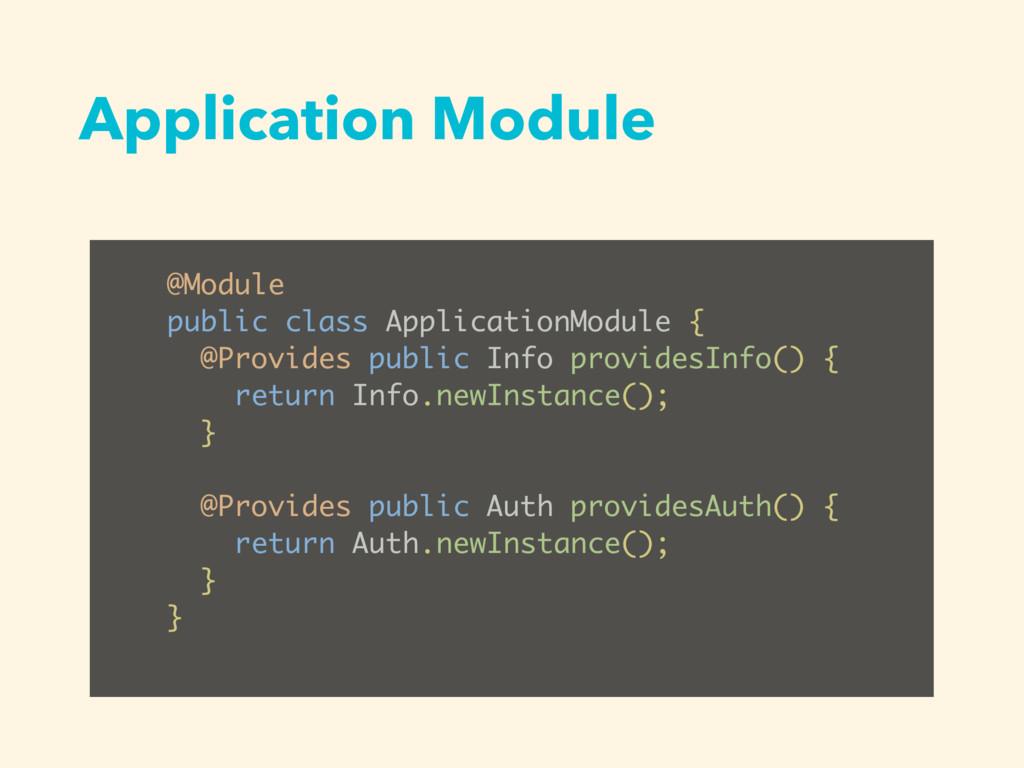 Application Module @Module public class Applica...