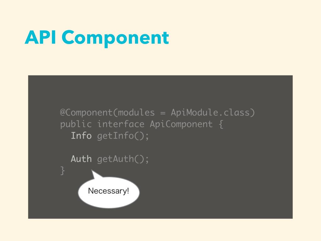 API Component @Component(modules = ApiModule.cl...