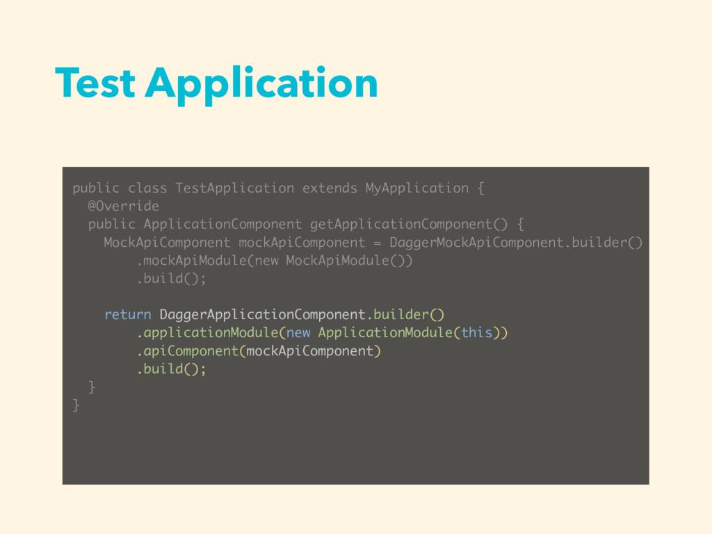 Test Application public class TestApplication e...