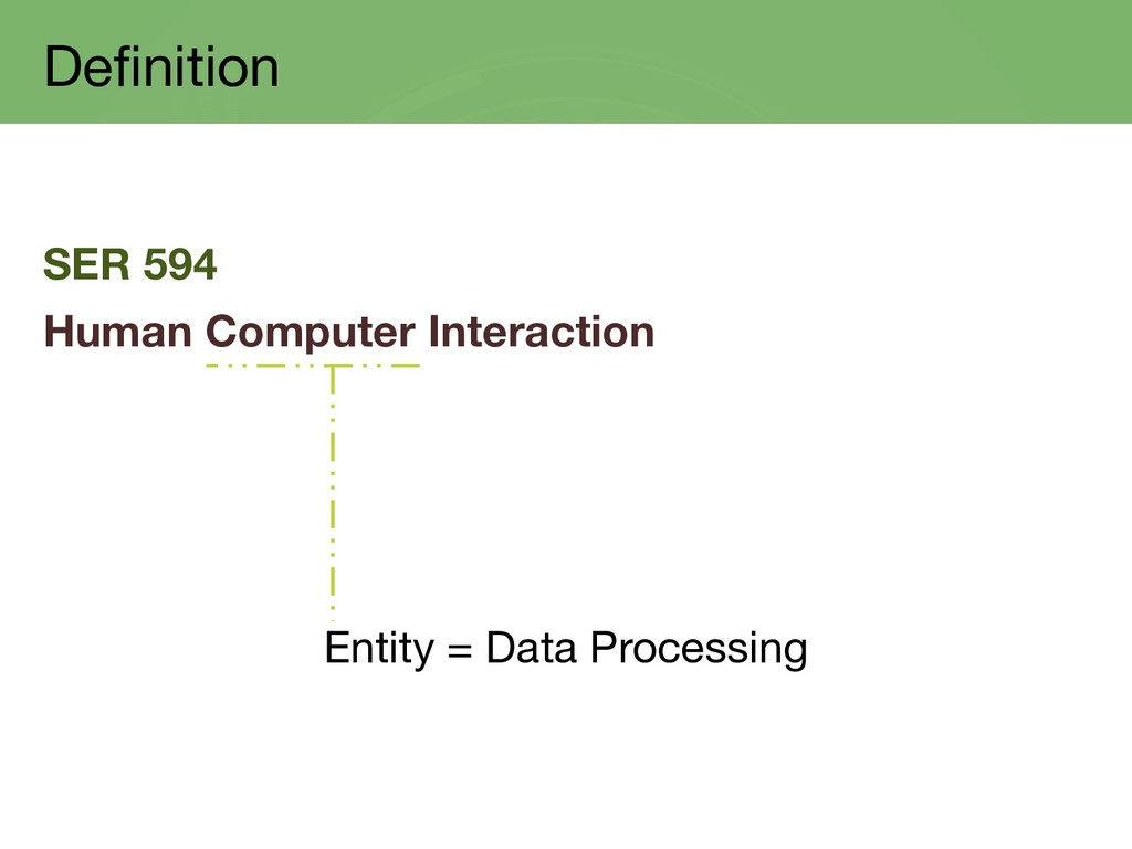 Definition SER 594 Human Computer Interaction E...