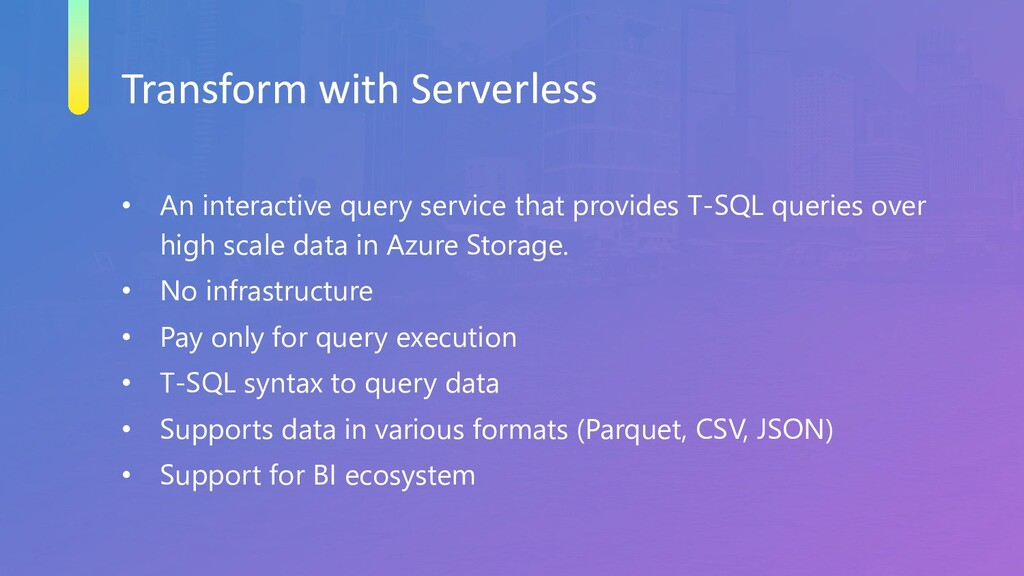 Transform with Serverless • An interactive quer...