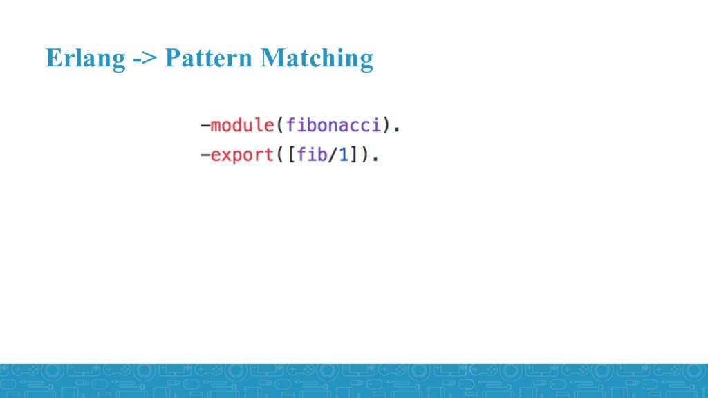 Erlang -> Pattern Matching