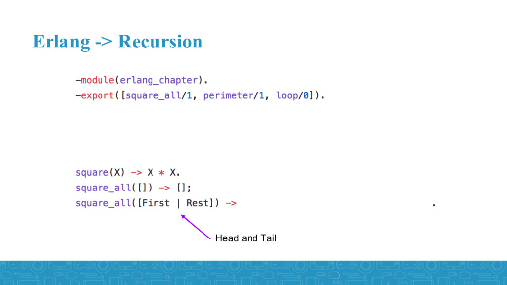 Erlang -> Recursion Head and Tail