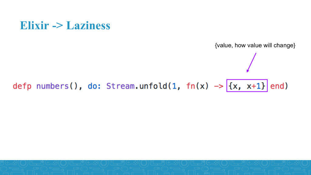 Elixir -> Laziness {value, how value will chang...