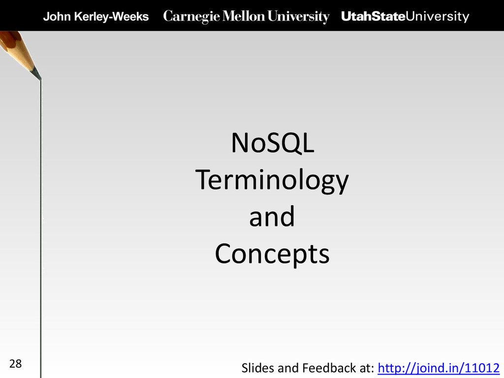 NoSQL Terminology and Concepts 28 Slides and Fe...