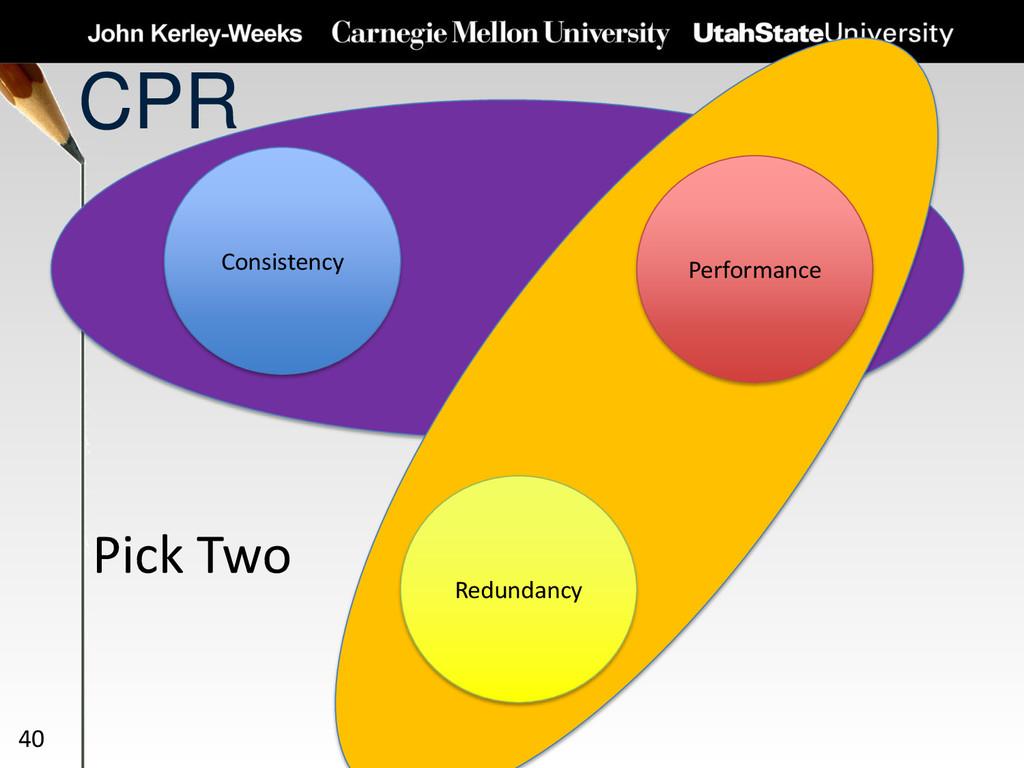 CPR 40 Consistency Redundancy Performance Pick ...