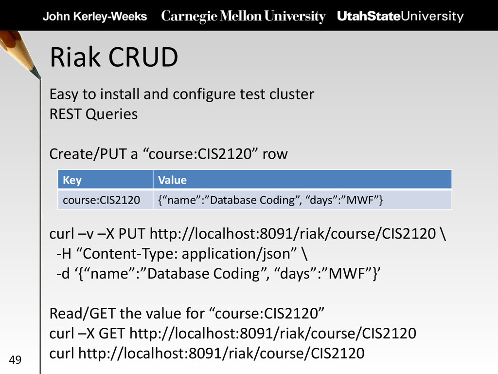 Riak CRUD 49 Easy to install and configure test...