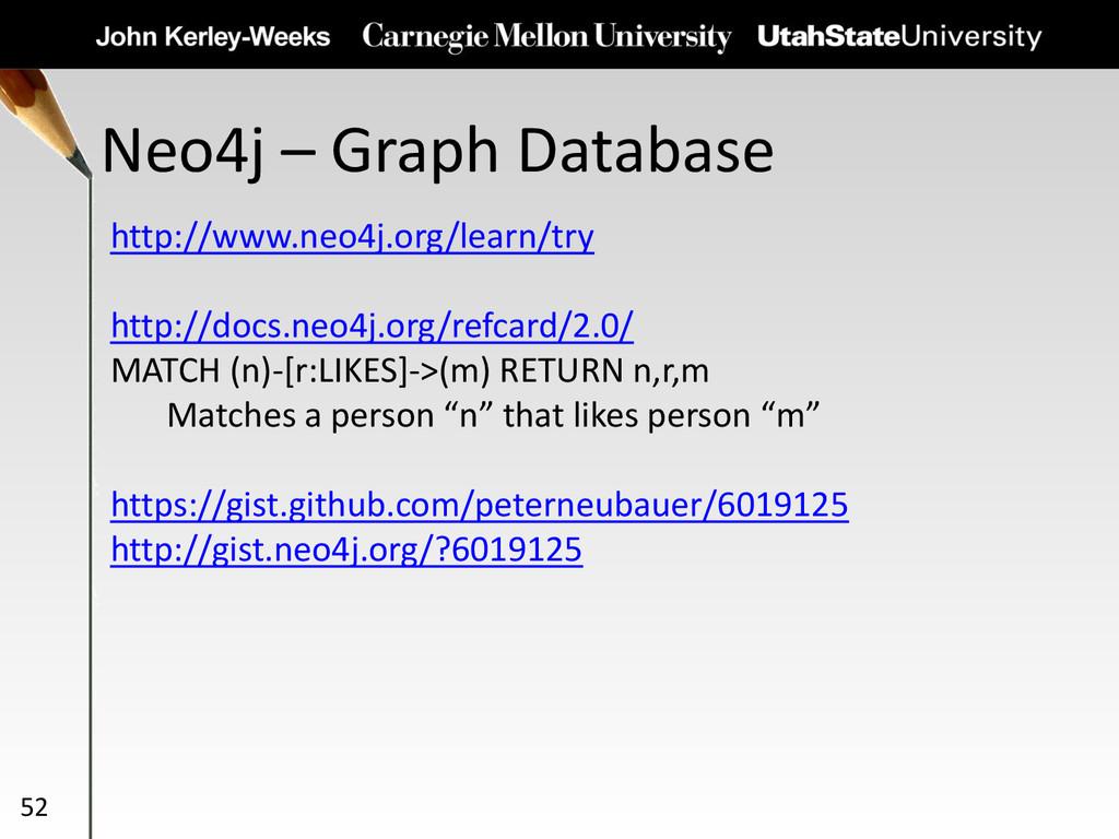 Neo4j – Graph Database 52 http://www.neo4j.org/...