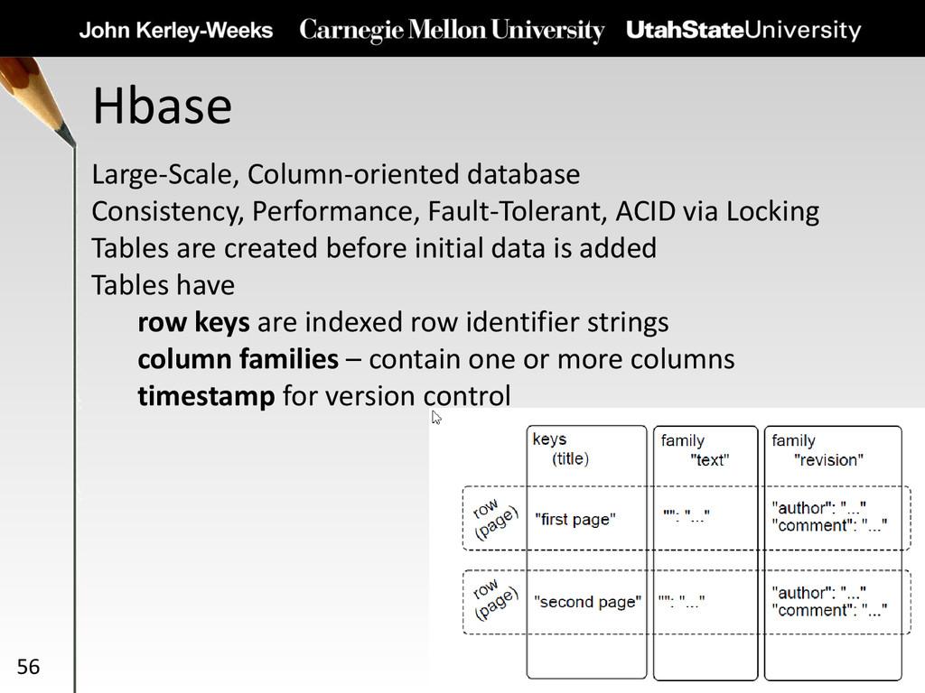 Hbase 56 Large-Scale, Column-oriented database ...