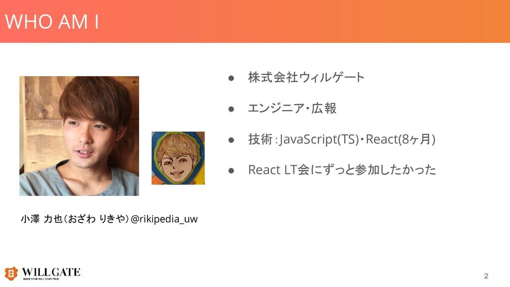 WHO AM I 2 小澤 力也(おざわ りきや)@rikipedia_uw ● 株式会社ウィ...