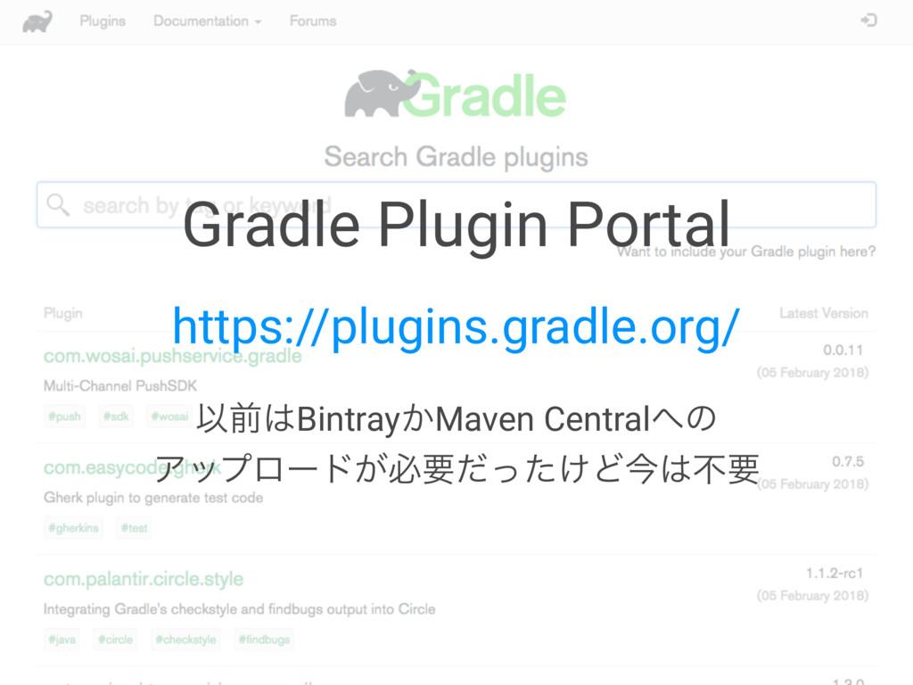 Gradle Plugin Portal https://plugins.gradle.org...