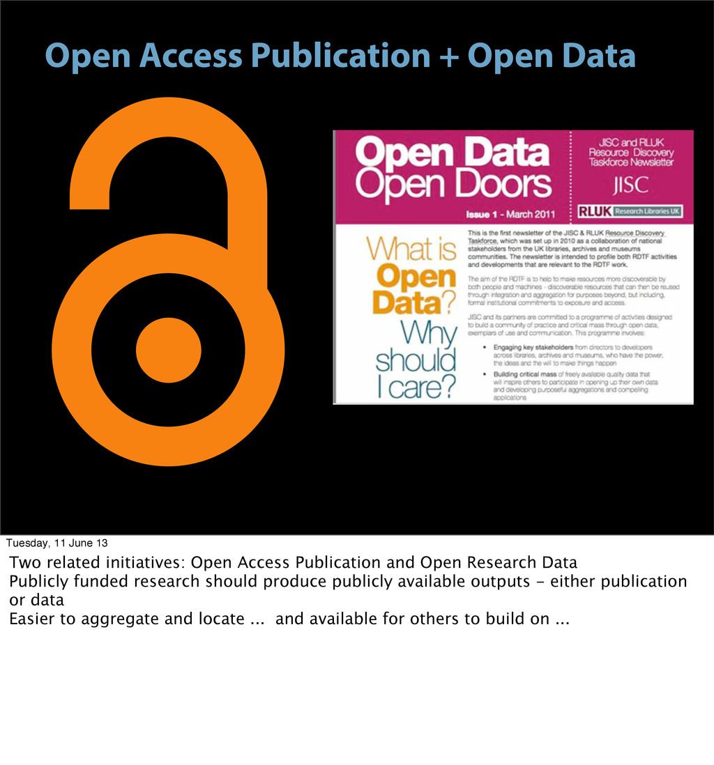 Open Access Publication + Open Data Tuesday, 11...