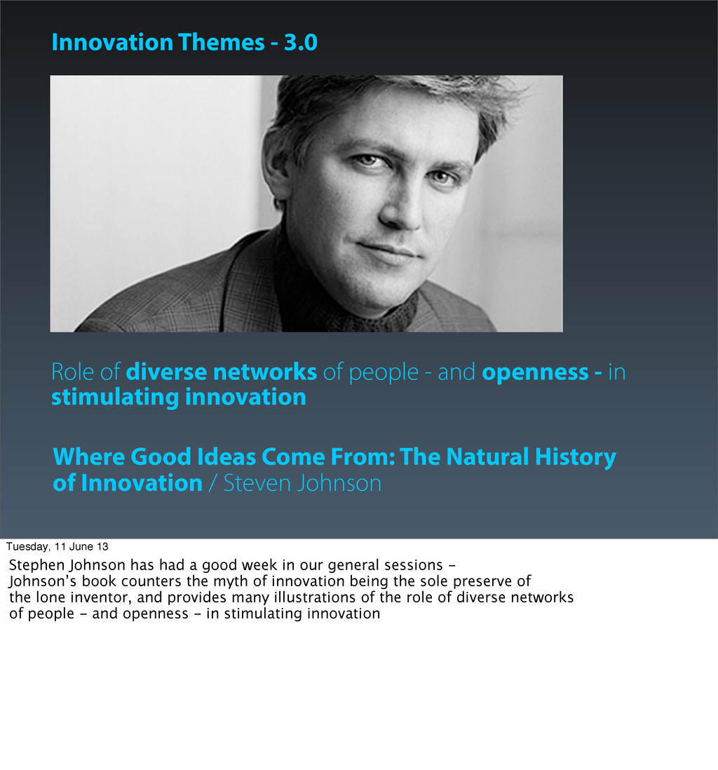 Role of diverse networks of people - and openne...