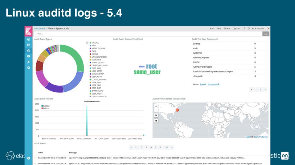 Linux auditd logs - 5.4