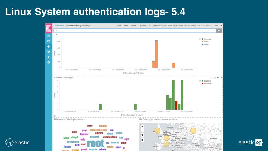 Linux System authentication logs- 5.4