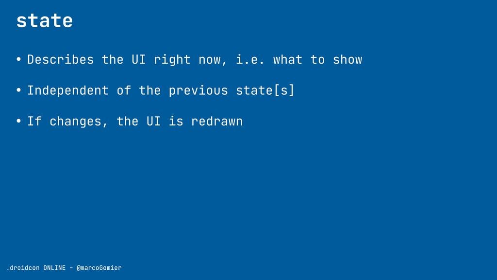 .droidcon ONLINE - @marcoGomier state • Describ...