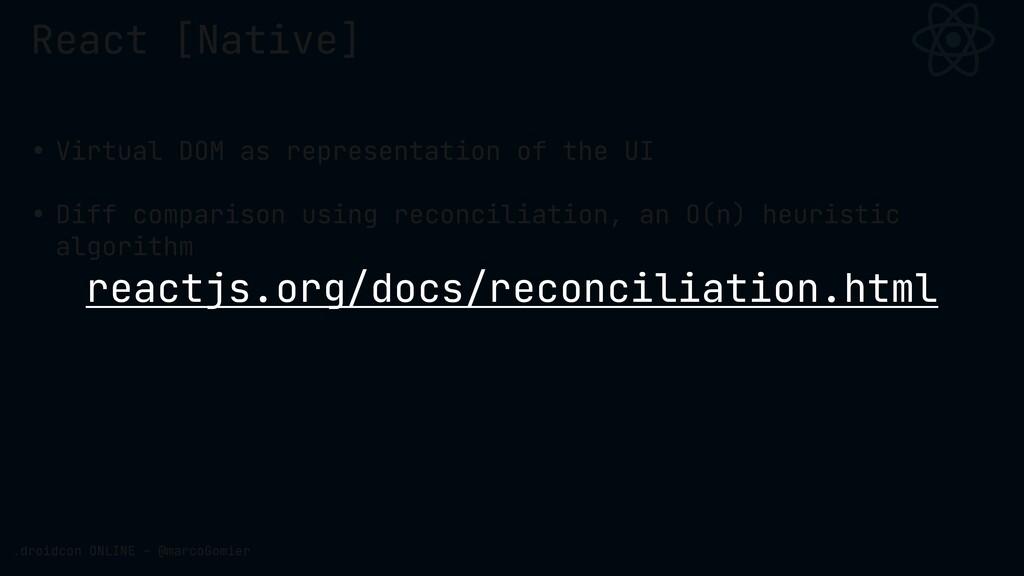 React [Native] .droidcon ONLINE - @marcoGomier ...