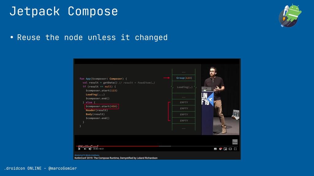 Jetpack Compose .droidcon ONLINE - @marcoGomier...