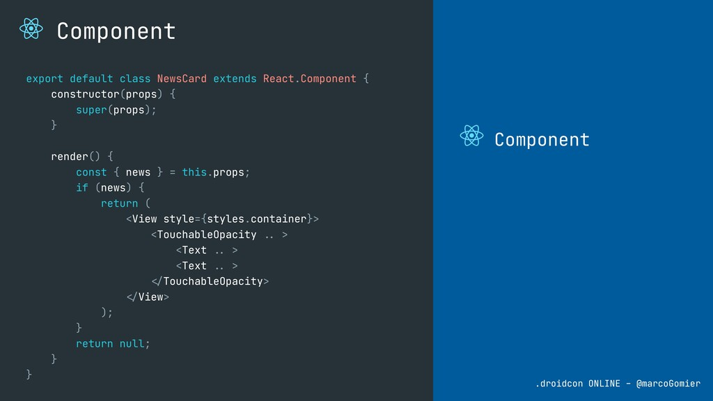 Component .droidcon ONLINE - @marcoGomier Compo...