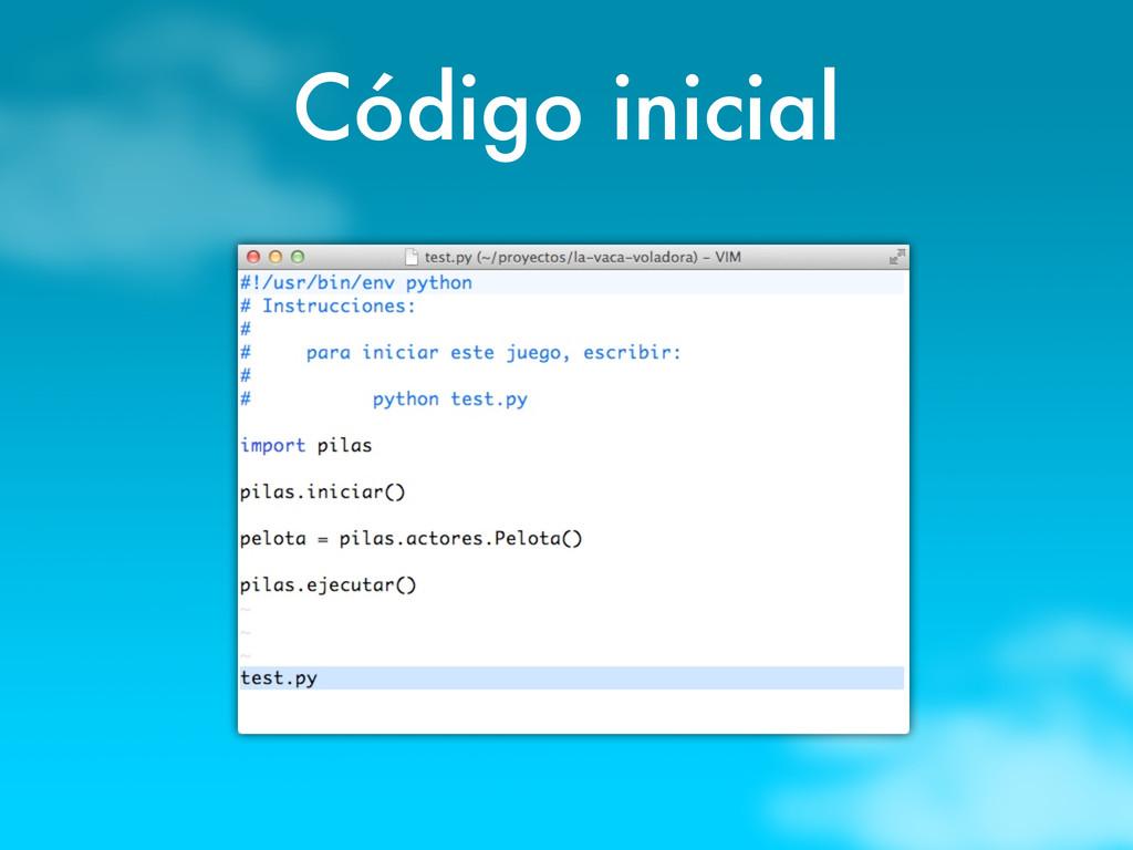 Código inicial