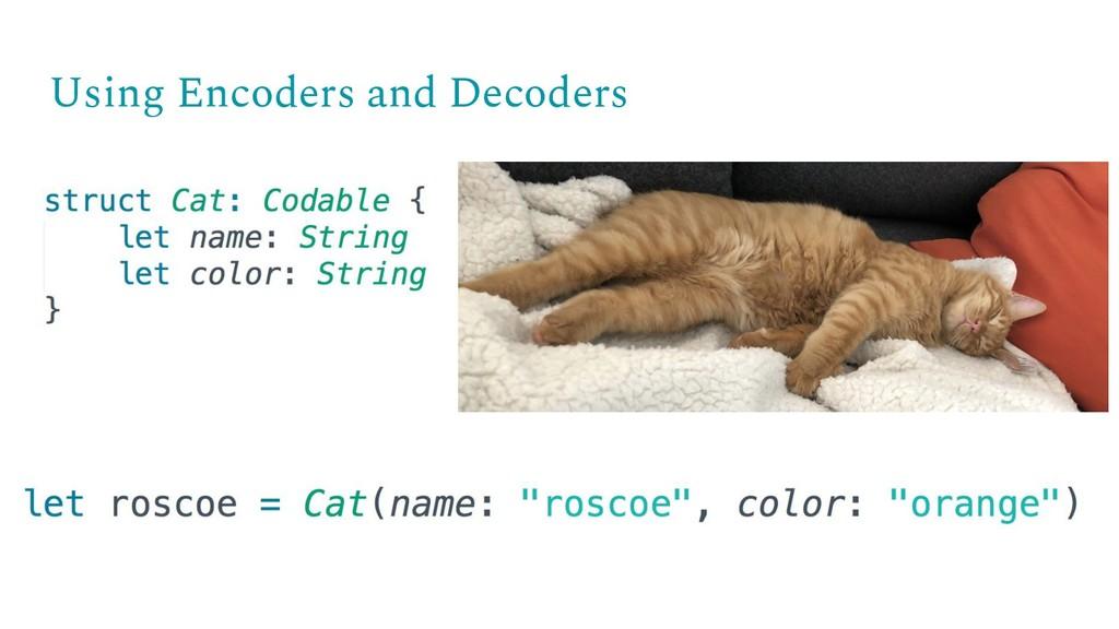 Using Encoders and Decoders