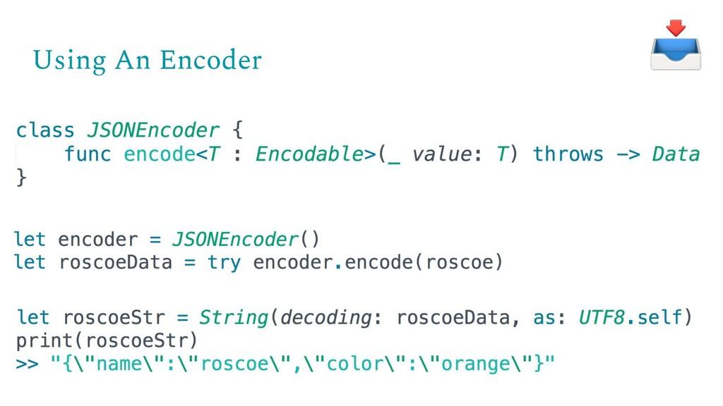 Using An Encoder