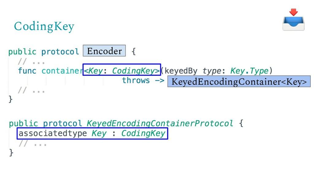 CodingKey KeyedEncodingContainer<Key> Encoder
