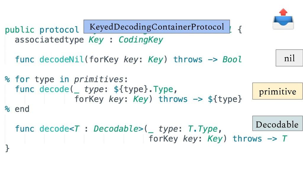 KeyedDecodingContainerProtocol nil primitive De...