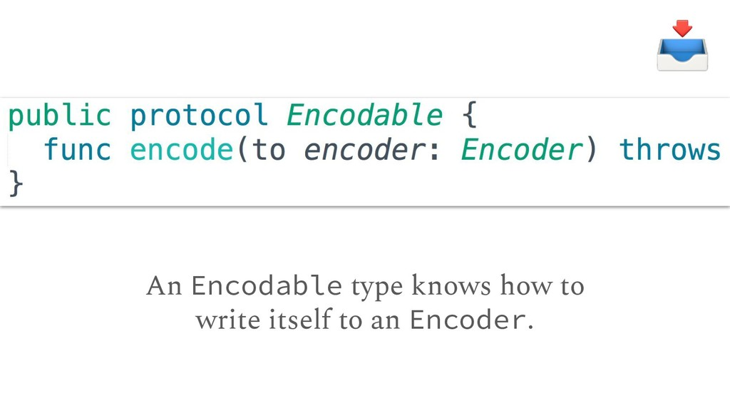 An Encodable type knows how to write itself to ...