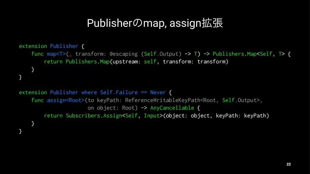 Publisherͷmap, assign֦ு extension Publisher { f...