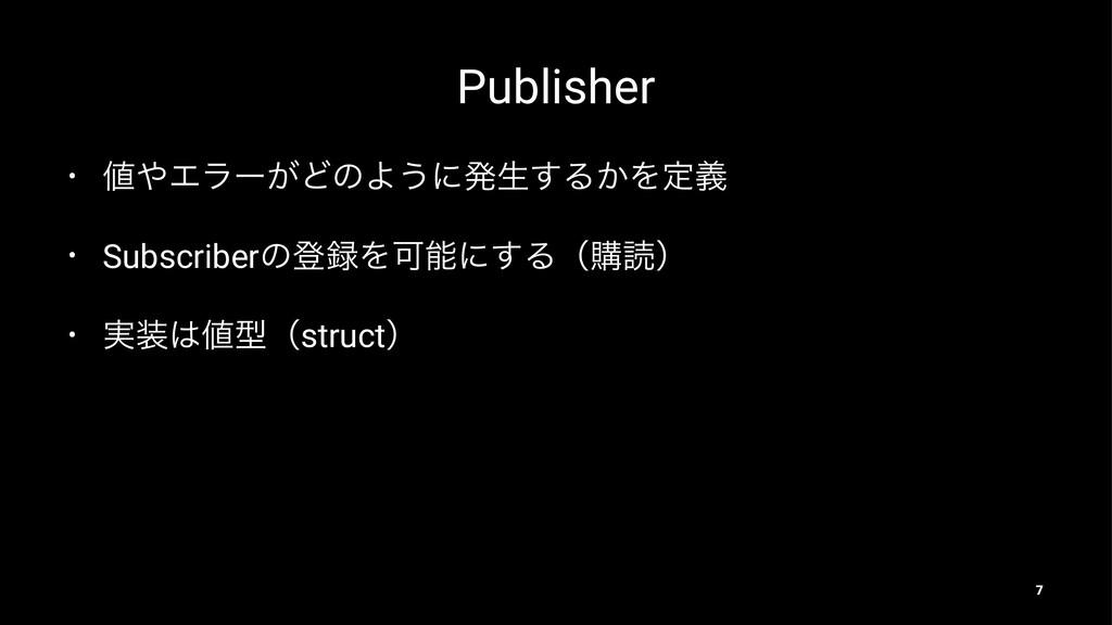 Publisher • Τϥʔ͕ͲͷΑ͏ʹൃੜ͢Δ͔Λఆٛ • Subscriberͷొ...