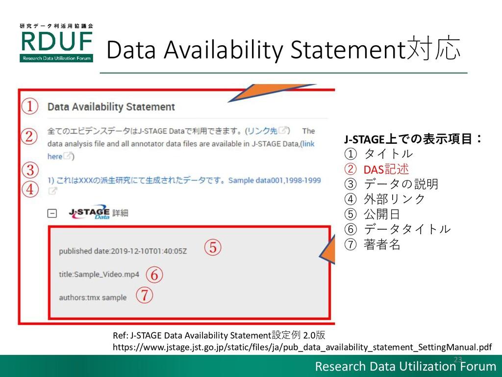 Research Data Utilization Forum Data Availabili...