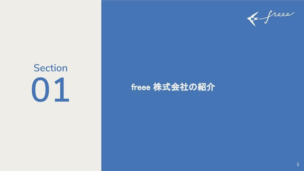 01 freee 株式会社の紹介 3 Section