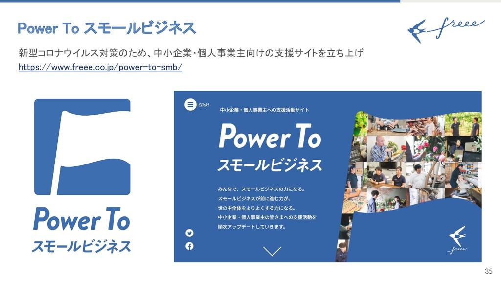 35 Power To スモールビジネス 新型コロナウイルス対策のため、中小企業・個人事業主...