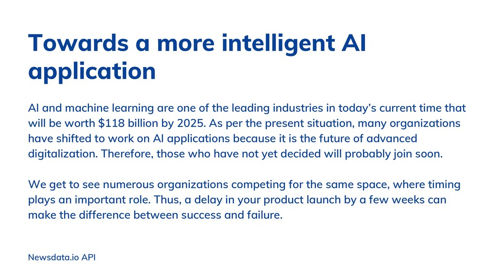 AI and machine learning are one of the leading ...