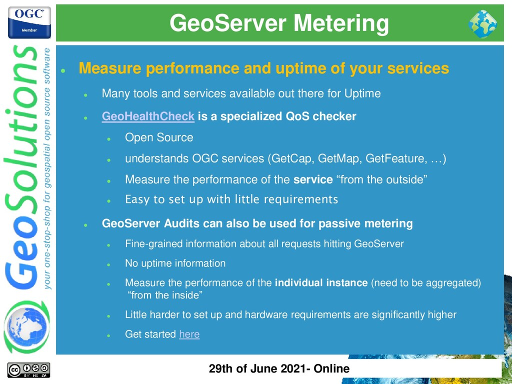 GeoServer Metering ⚫ Measure performance and up...