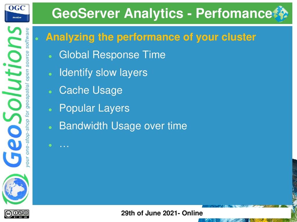 GeoServer Analytics - Perfomance ⚫ Analyzing th...