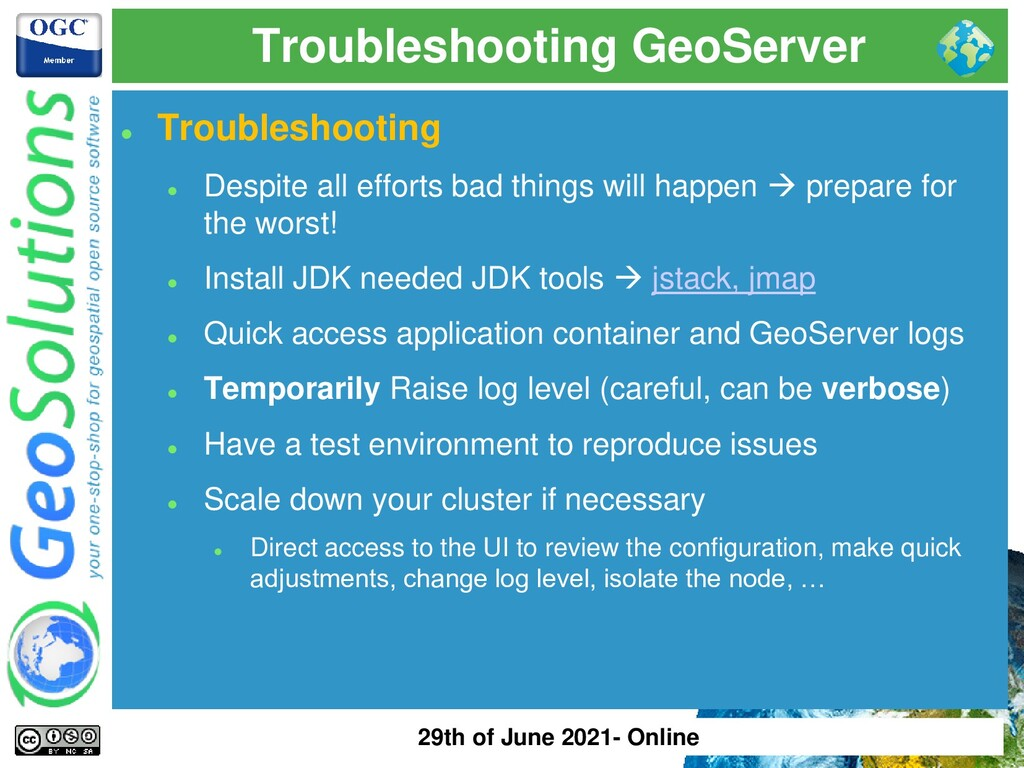 Troubleshooting GeoServer ⚫ Troubleshooting ⚫ D...