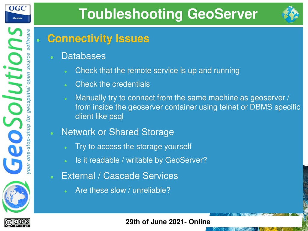 Toubleshooting GeoServer ⚫ Connectivity Issues ...