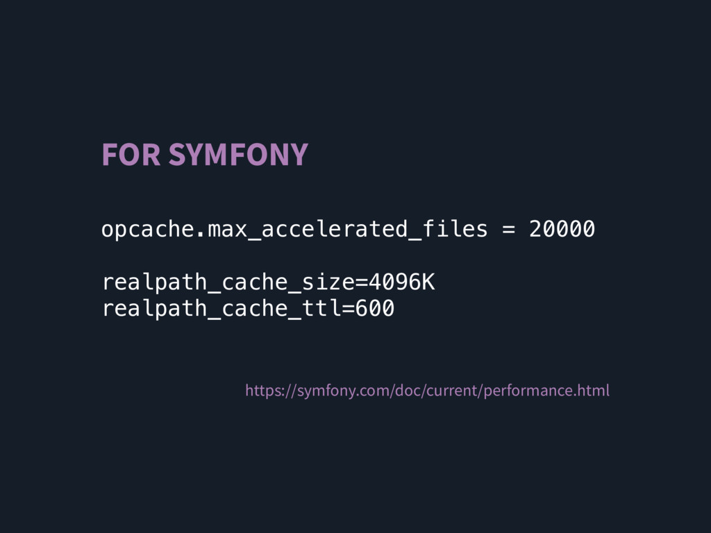 FOR SYMFONY