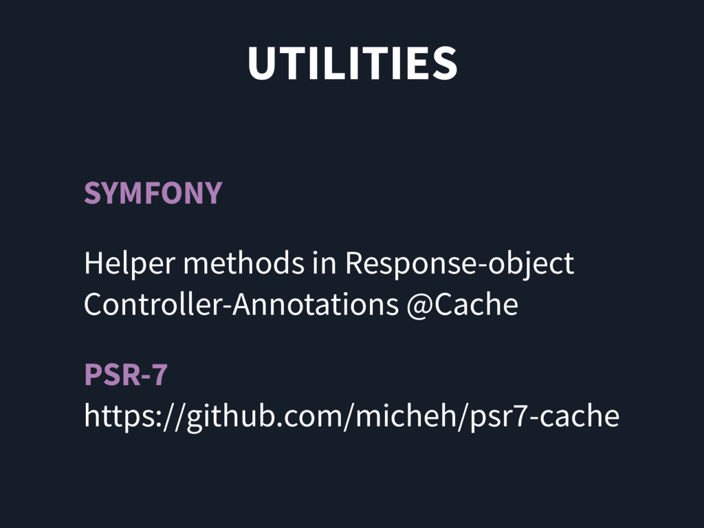 UTILITIES SYMFONY Helper methods in Response-ob...