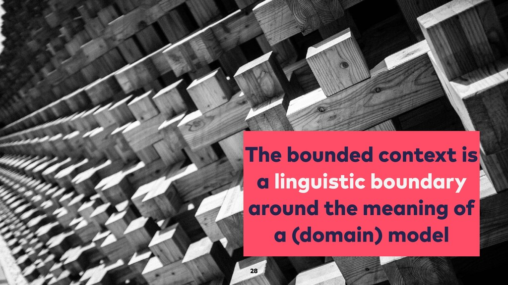 The bounded context is a linguistic boundary ar...