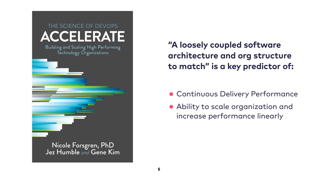 """5 """"A loosely coupled software architecture and ..."""